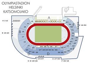 Helsinki stadion térképe